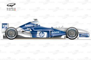 Williams FW25 2003 updated side view
