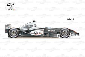 McLaren MP4-18 2003 side view