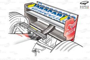 Toyota TF103 2003 Monaco rear wing