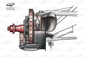 Configuration de frein avant pour températures chaudes McLaren MP4-16