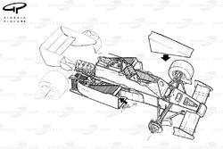 Arrows A7 1984, panoramica dettagliata