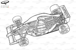 Vue d'ensemble de la Ferrari F1-90 (641)