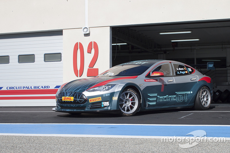 El Tesla Model S P85 en Paul Ricard
