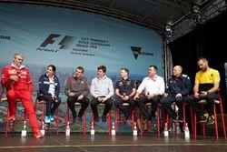 Maurizio Arrivabene, Teamchef, Ferrari;Monisha Kaltenborn, Teamchef, Sauber; Günther Steiner, Teamch