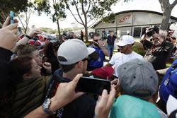 Lewis Hamilton, Mercedes AMG, rencontre des fans