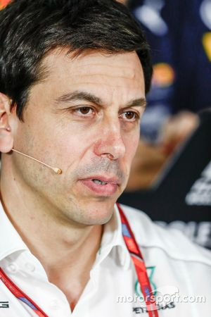Toto Wolff, Executive Director (Business), Mercedes AMG, in the Team Principals Press Conference