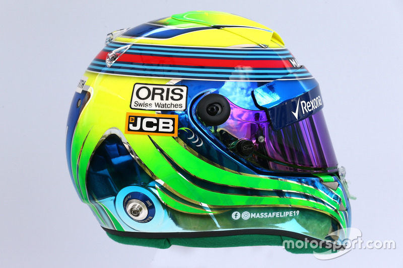 Le casque de Felipe Massa, Williams