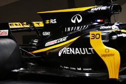 Renault Sport F1 Team RS17-motorkap en achtervleugel