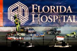 Matt Crafton, ThorSport Racing Toyota, airborne