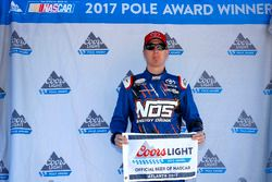 Kyle Busch, Joe Gibbs Racing Toyota with the pole award