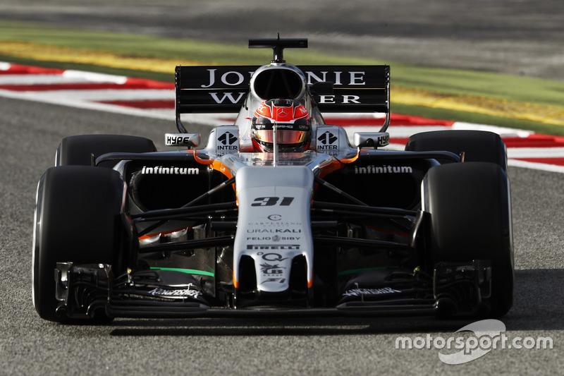 Esteban Ocon, Force India VJM10 Mercedes