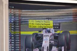 Инструкции на стене гараж Red Bull Racing