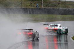 #2 Montaplast by Land-Motorsport, Audi R8 LMS: Jeffrey Schmidt, Christopher Haase, #3 Aust Motorsport, Audi R8 LMS: Markus Pommer, Kelvin van der Linde