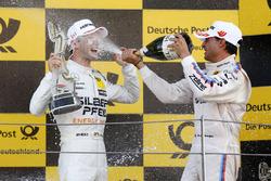 Podium: Race winner Maro Engel, Mercedes-AMG Team HWA, Mercedes-AMG C63 DTM and Bruno Spengler, BMW Team RBM, BMW M4 DTM