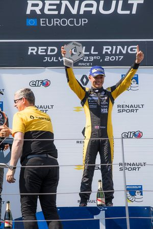 Podium: race winner Max Fewtrell, Tech 1 Racing