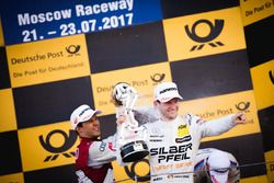 Podium: Mattias Ekström, Audi Sport Team Abt Sportsline, Audi A5 DTM and Maro Engel, Mercedes-AMG Team HWA, Mercedes-AMG C63 DTM