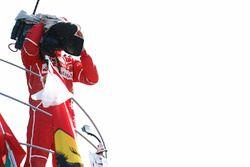 Podium: 3. Sebastian Vettel, Ferrari, mit TV-Kamera