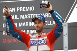 Podium: derde plaats Andrea Dovizioso, Ducati Team