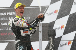 Podium: race winner Dominique Aegerter, Kiefer Racing