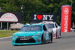 Erik Jones, Joe Gibbs Racing Toyota and Cole Custer, Stewart-Haas Racing Ford