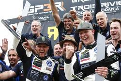 Il vincitore Johan Kristoffersson, Volkswagen Team Sweden, il secondo classificato Petter Solberg, P