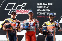 Podium: second place Marc Marquez, Repsol Honda Team, Race winner Andrea Dovizioso, Ducati Team, thi