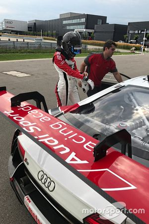 Audi R8 LMS-teszt - Keszthelyi Vivien