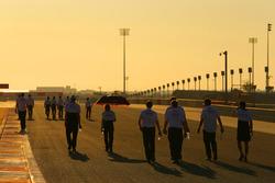 Toyota Racing pendant le track walk
