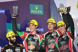 Podium LMP2 : deuxième place #43 RGR Sport by Morand Ligier JSP2 - Nissan: Ricardo Gonzalez, Filipe Albuquerque, Bruno Senna