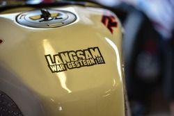 Gary Johnson, BMW bike detail