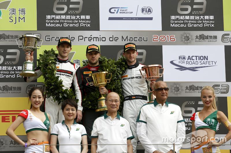 Подіум: переможець гонки Лоранс Вантор, Audi Sport Team WRT Audi R8 LMS; Друге місце Кевін Ерсте, Manthey Racing Porsche 911 GT3-R; Третє місце Маро Енгель, Mercedes-AMG Driving Academy Mercedes-AMG GT3