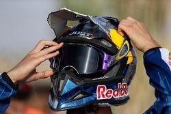 Daniel Ricciardo, Red Bull Racing prepares to ride a motorcycle