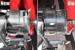 Ferrari SF-70H, brakes comparison