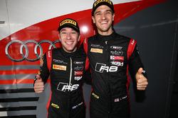 Les polemen #17 Team WRT, Audi R8 LMS: Stuart Leonard, Robin Frijns