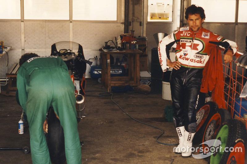 Adrien Morillas, Kawasaki Racing, ganador A1-Ring, 1988