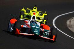 Sebastian Saavedra, Juncos Racing Chevrolet, Simon Pagenaud, Team Penske Chevrolet