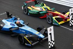 Sébastien Buemi, Renault e.Dams, and Lucas di Grassi, ABT Schaeffler Audi Sport, in Parc Ferme