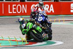 Kenan Sofuoglu, Kawasaki Puccetti Racing; Lucas Mahias, GRT Yamaha Official WorldSSP Team; P.J. Jaco