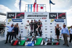 Podium: winner René Binder, Lotus, second place Roy Nissany, RP Motorsport, third place Yu Kanamaru,