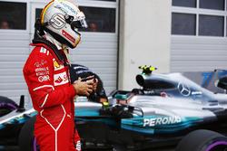 Sebastian Vettel, Ferrari, in parc ferme