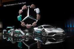 Mercedes-AMG Project ONE lansman aracı ve Mercedes AMG F1 W08