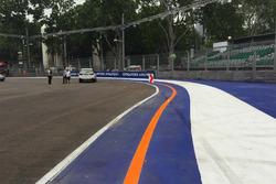 GP Singapore, dettaglio del cordolo alla curva 2