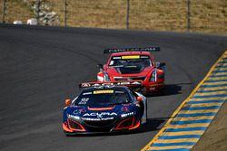 #93 RealTime Racing Acura NSX GT3: Peter Kox, #3 Cadillac Racing Cadillac ATS-VR GT3: Johnny O'Conne