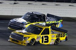 Cody Coughlin, ThorSport Racing Toyota and Josh Reaume, WCIparts.com Chevrolet Silverado