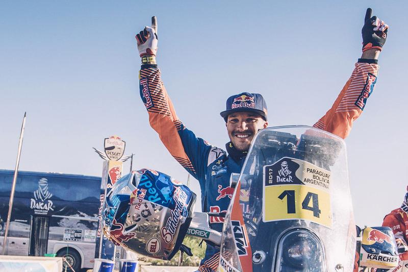 Le vainqueur Sam Sunderland, Red Bull KTM Factory Racing