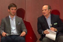 Daniel Suarez, Joe Gibbs Racing Toyota, Ronald Coppock, ARRIS Executive Vice President