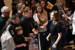 Claire Williams, Williams Deputy Team Principal meet fans