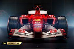 La Ferrari F2004 de 2004 dans F1 2017