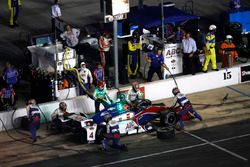 Conor Daly, A.J. Foyt Enterprises Chevrolet pit stop