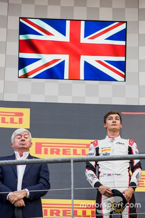 Podium: tweede George Russell, ART Grand Prix